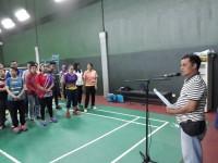 Ical kg saat mc di Badminton Gor Kemenpora